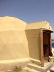 Corcho proyectado en domos y passive house